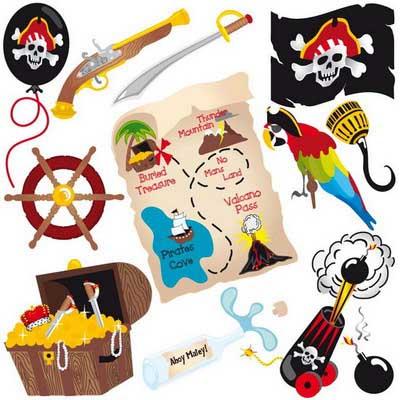 Рисунок для пиратской вечеринки