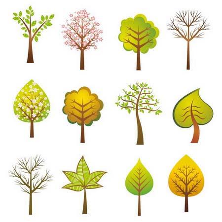 Tree design клипарт деревьявектор